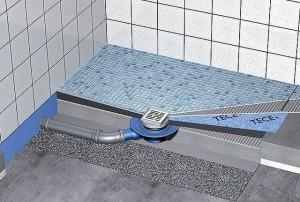 Водосборный трап в бетонированном утепленном полу