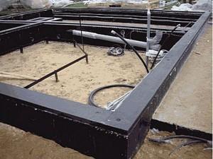 Ленточный фундамент с полной гидроизоляцией