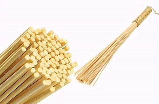 Несколько необычные для наших краев - бамбуковые веники