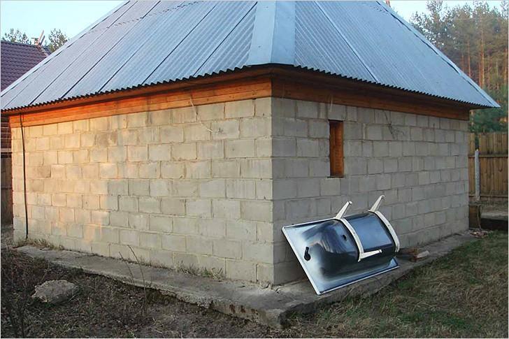 Баня из шлакоблока
