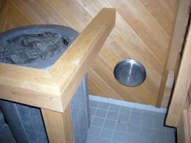 Вентиляционный приточный клапан за каменкой