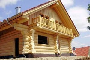 Дом баня с мансардой из бревна проекты