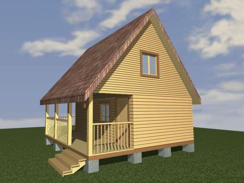 Компактный дом-баня 4х6