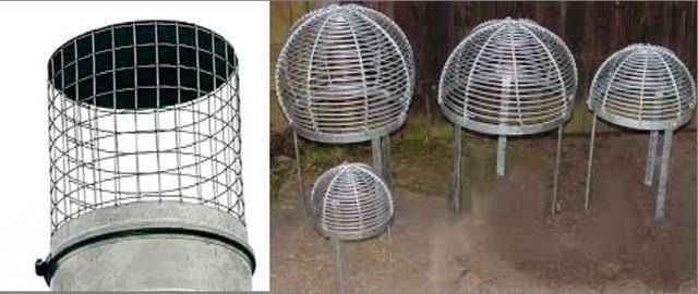 Такие насадки избавляют от искр, но не закрывают дымоход от атмосферных осадков