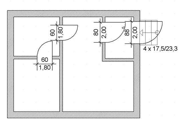 Планирование дверей и входной лестницы
