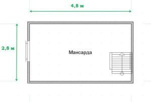 Применительно к нашему проекту - вполне просторное помещение