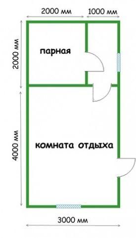 Планировка 3х6
