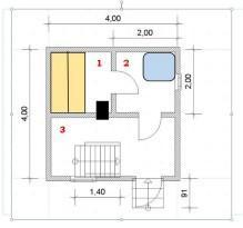 План первого, банного этажа