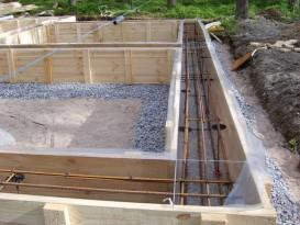 В готовую опалубку настилается плотная полиэтиленовая пленка, закрывающая конструкцию изнутри