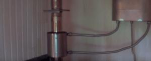 Подключение теплообменника на трубе