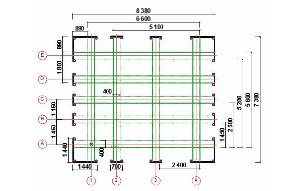 Выполнение разметки внешних и внутренних стен здания
