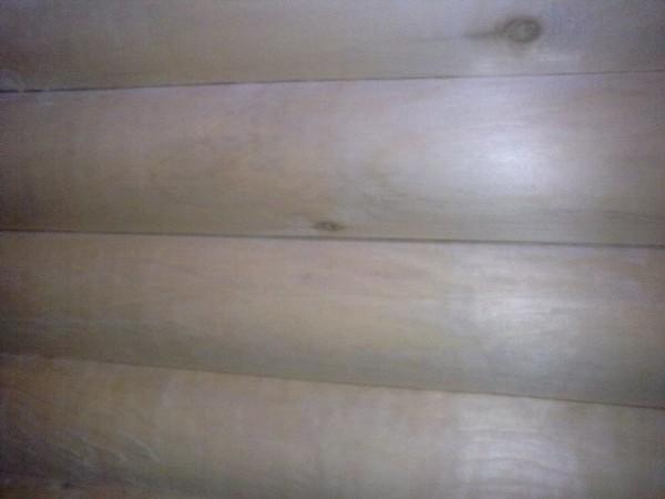 Стена осиновой бани