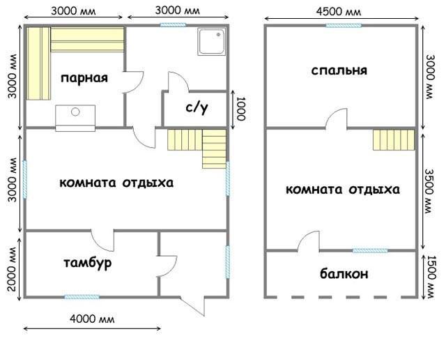 Дом-баня 6х8 м