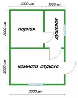 Планировка 3х4