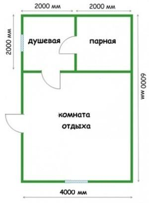 Планировка 4х6