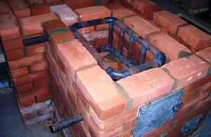 Пример установки теплообменника в печь