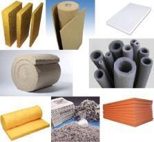 Ассортимент теплоизоляционных материалов