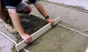 Выравнивание пола бетоном