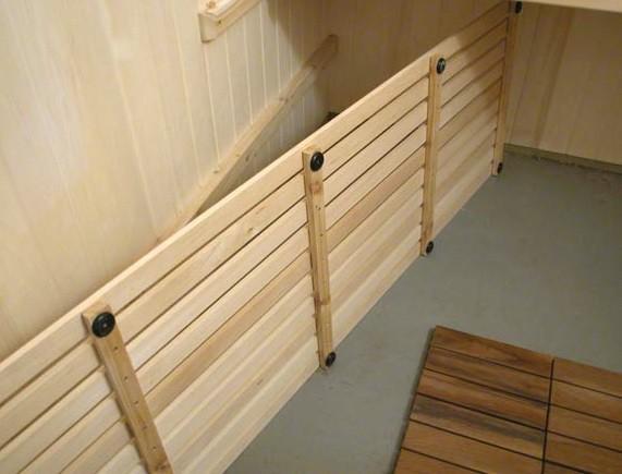 Деревянный настил для бетонного пола