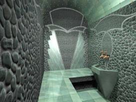 Жадеит в качестве отделочного материала в бане