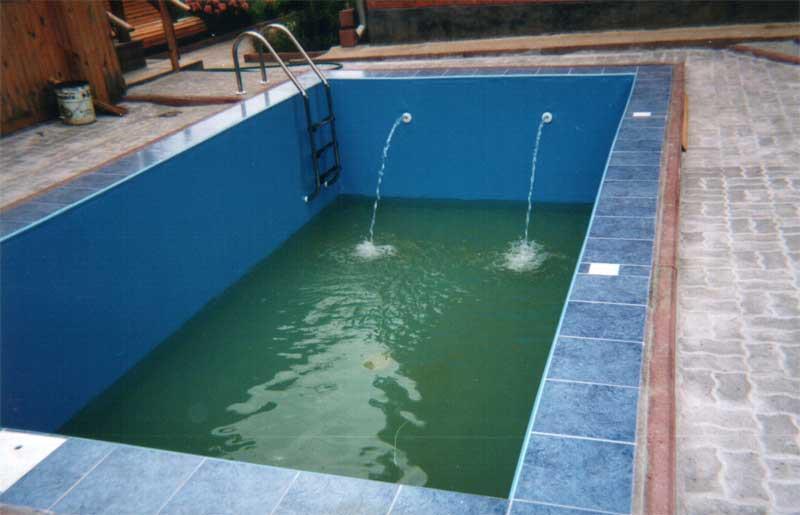 Заливка воды в бассейн
