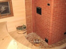 Кирпичная печь в бане — один из самых правильных вариантов
