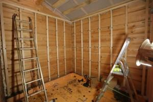 Монтаж деревянного каркаса-обрешетки