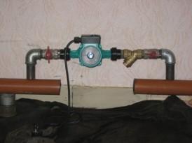 Монтаж узла отопления