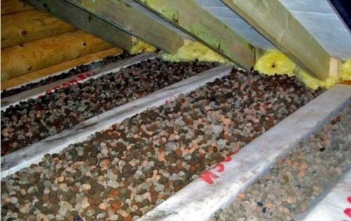Настильный потолок с керамзитом