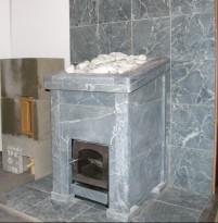 Облицовочная плитка и каменка из талькохлорита