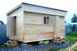 Односкатная крыша из ондулина