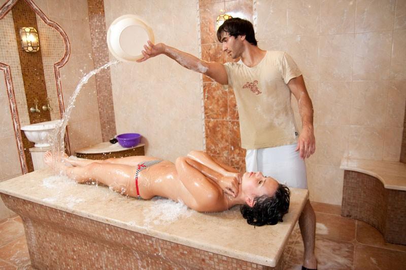 Ополаскивание водой после массажа