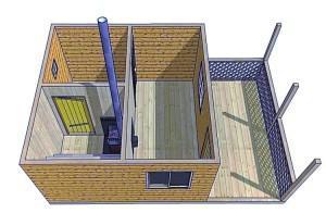 Определяем оптимальную высоту разных помещений бани