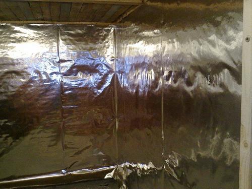 Пароизоляция бани из пеноблоков алюминиевой фольгой