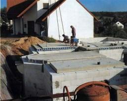 Перекрытия из пустотелых бетонных плит
