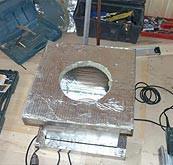 Подготовка проходного патрубка к монтажу
