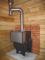 Пример замены части деревянной стены кирпичной кладкой