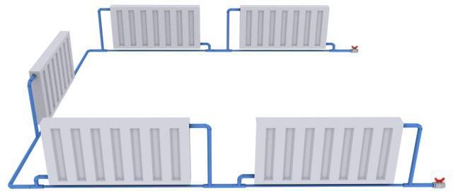 Пример подключения радиаторов