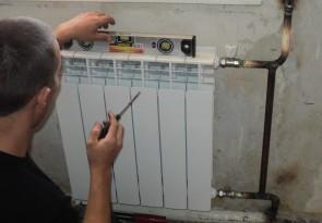 Проверка правильности установки радиатора