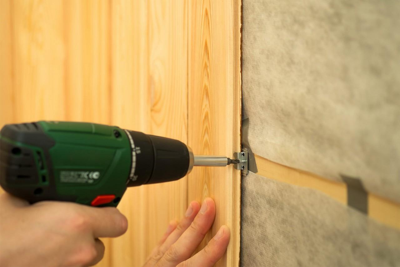 как монтировать вагонку на стены