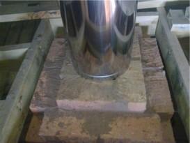 Проход трубы через потолочное перекрытие