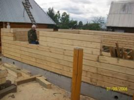 Строительство стен из бруса