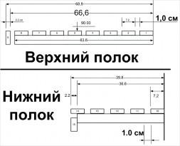 Схема верхнего и нижнего полка