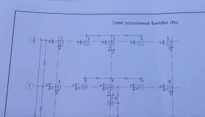 Схема расположения свай