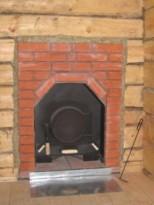 Установка железной печи в баню - между кирпичной кладкой и деревянной стеной теплоизоляция