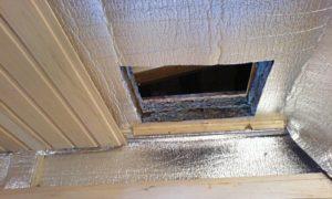 Утепление потолка бани производится без нахлестов листов материала