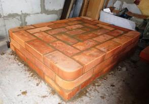 Фундамент для печи из кирпича