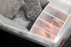 Электрокаменка - ТЭН и камни