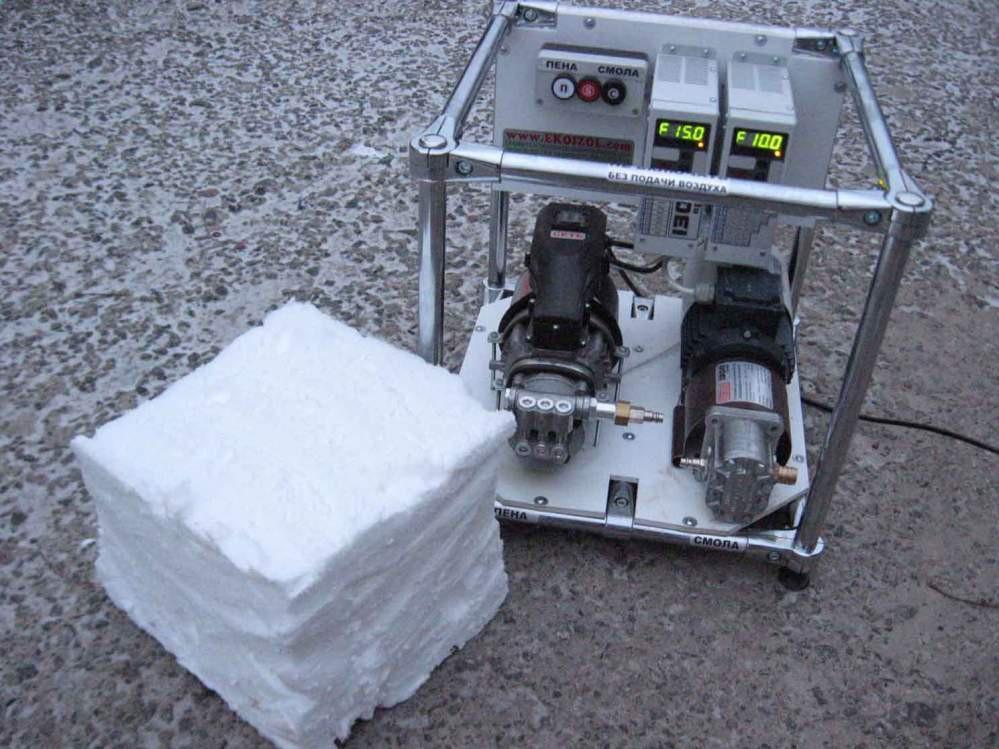 Профессиональное оборудование для производства заливного пенопласта ЭКОИЗОЛ (улучшенный ПЕНОИЗОЛ)
