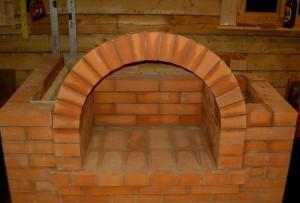 Пример арки, использован клиновидный кирпич